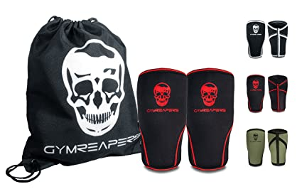 d96e95d237 Gymreapers Knee Sleeves (1 Pair) Free Gym Bag - Knee Sleeve & Compression  Brace for Squats, Weightlifting, Cross Training and Powerlifting 7MM Sleeve  Pair ...