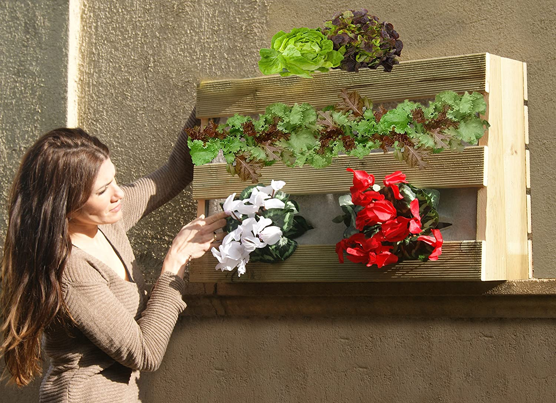 AD servicios Huerto Urbano Vertical 80x25x50 cm con 3 ...
