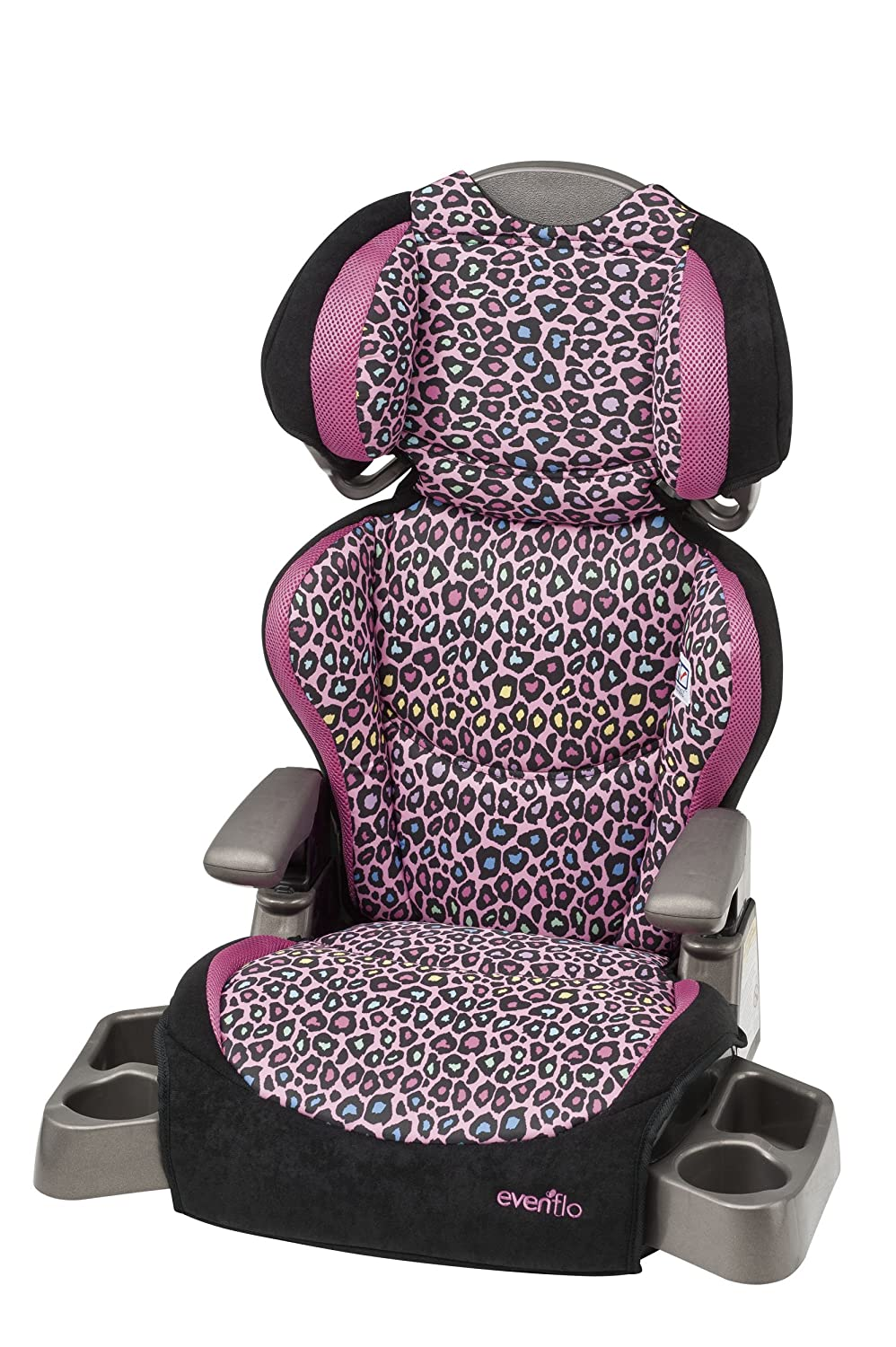 Amazon Evenflo Bid Kid Lx High Back Booster Seat Neon Leopard Child Safety Car Seats Baby