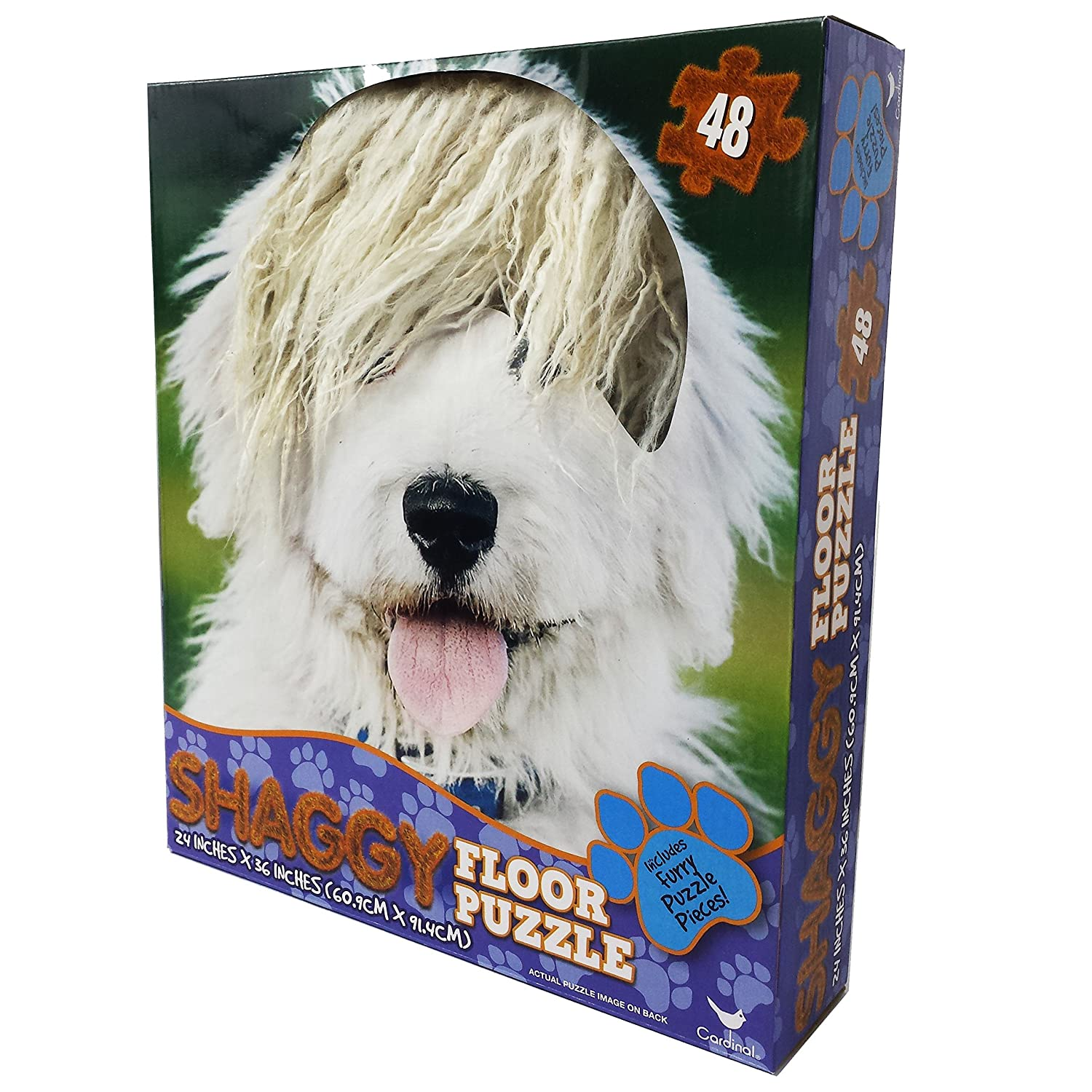 Cardinal Dog with Hair Floor Puzzle with with with Hair (46 Piece) e70069