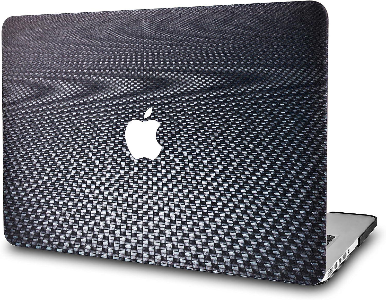 "KECC Laptop Case for MacBook Pro 13"" (2020/2019/2018/2017/2016) Plastic Hard Shell Cover A2289/A2251/A2159/A1989/A1706/A1708 Touch Bar (Black Carbon Fiber)"
