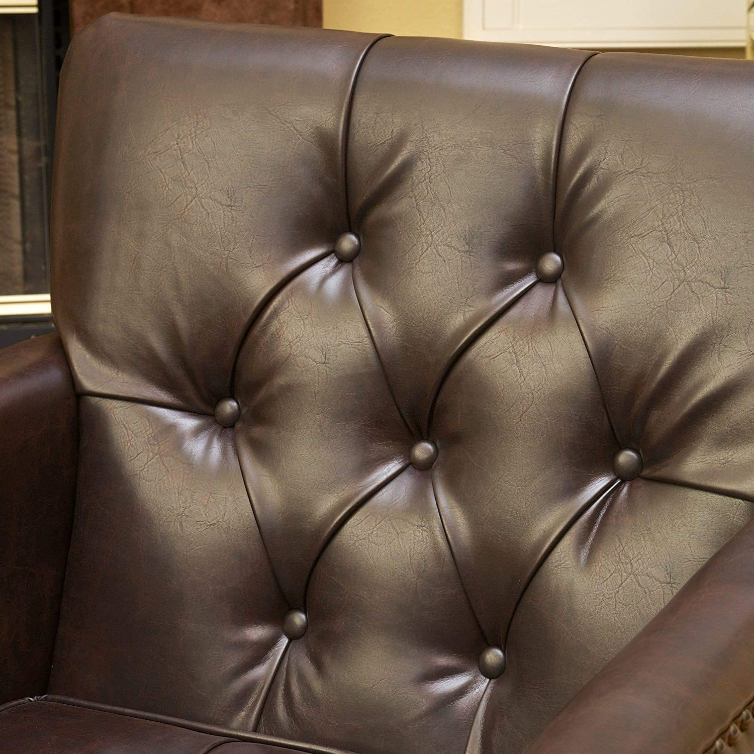 Outstanding Best Selling Murphy Leather Club Chair Brown Ncnpc Chair Design For Home Ncnpcorg