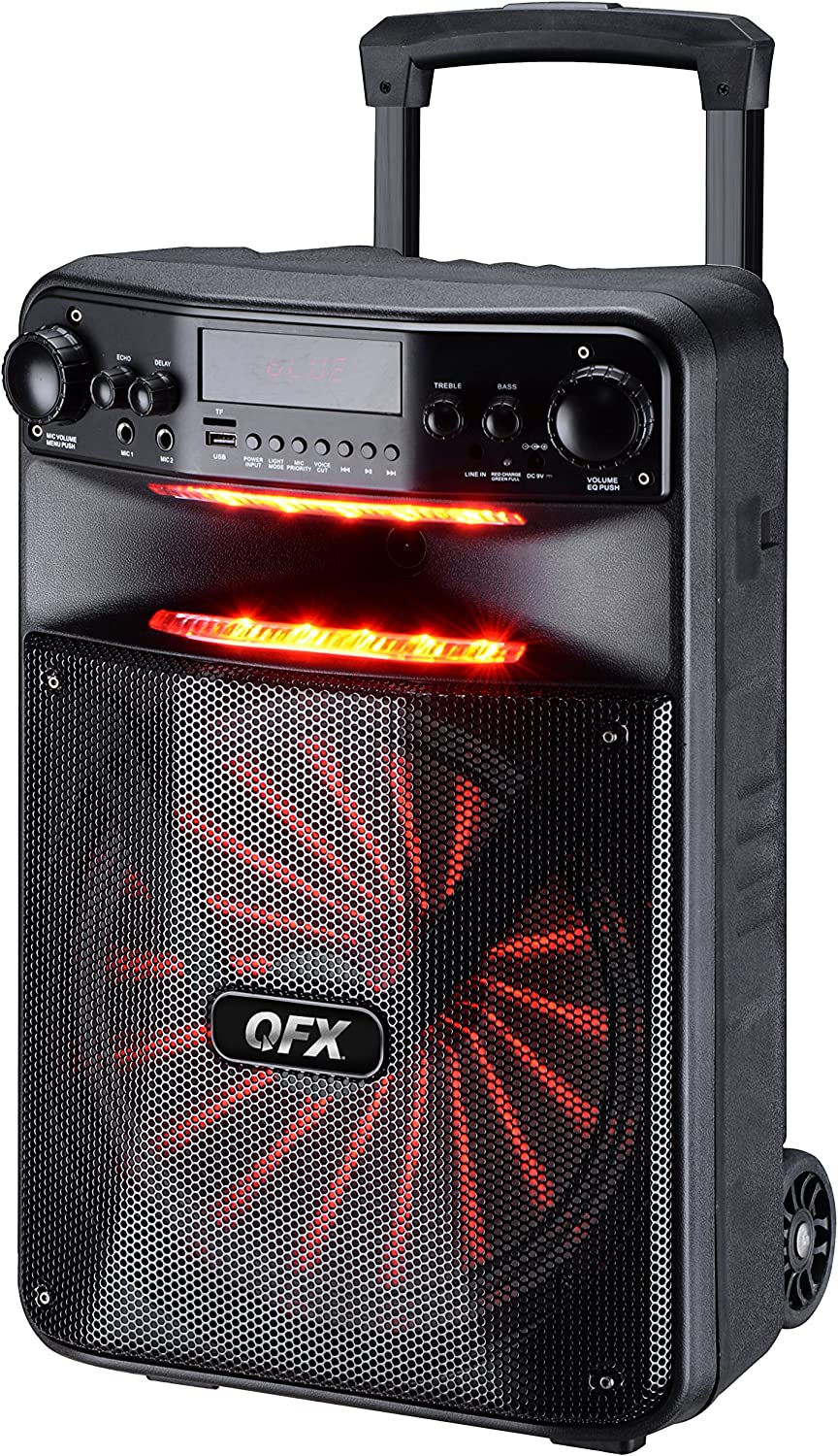 QFX PBX-1210 Smart App Controlled Party Speaker with Light Effects