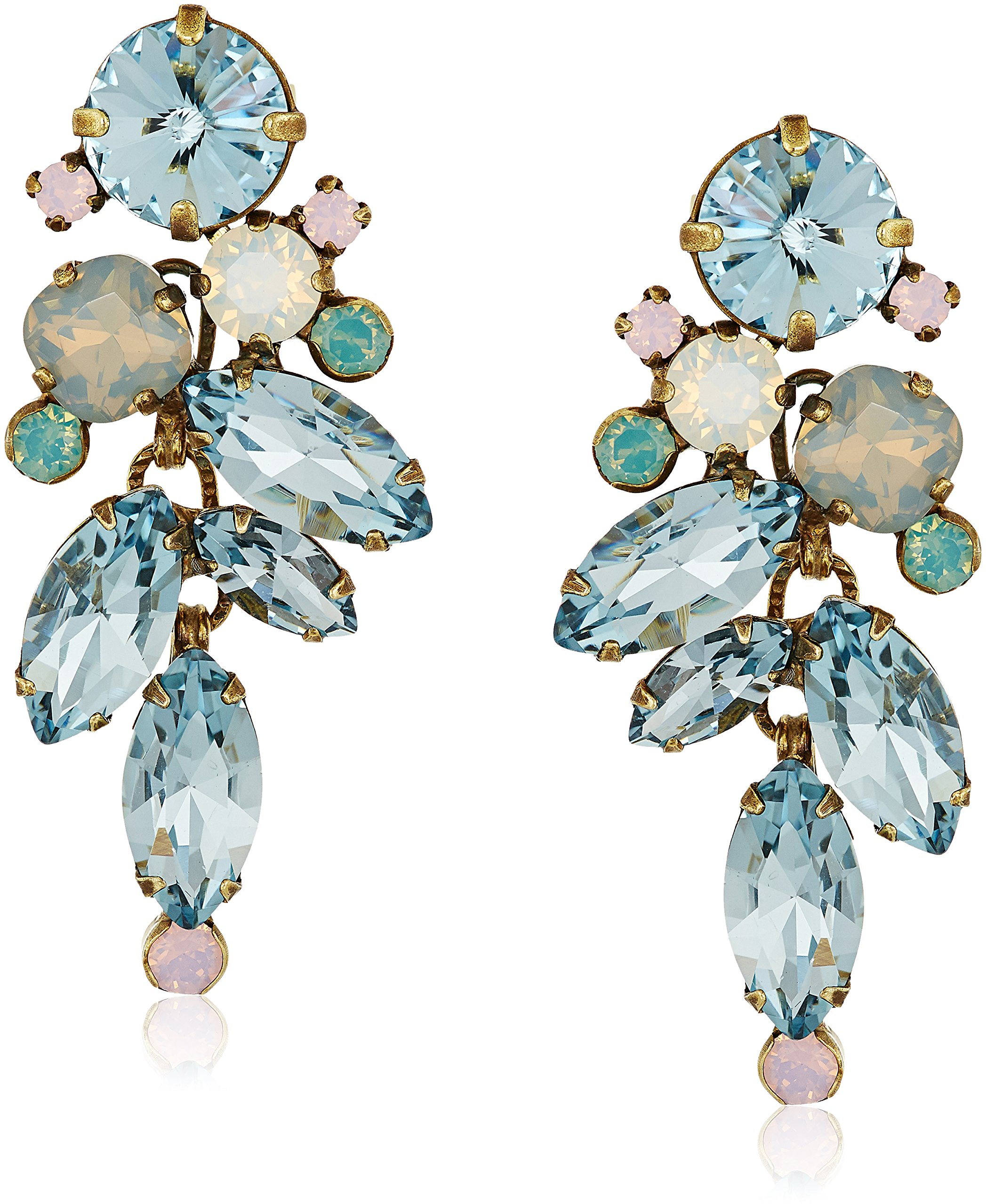 Sorrelli ''Washed Pastels'' Round and Navette Crystal Drop Earrings by Sorrelli