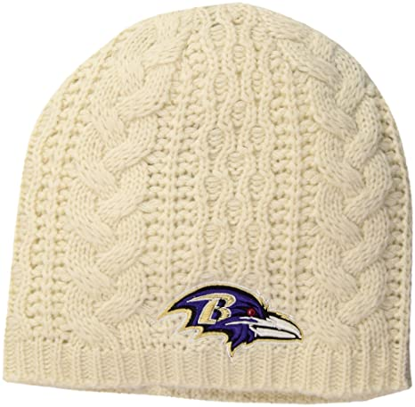 0d5870441 Amazon.com   NFL Baltimore Ravens Women s Waco OTS Beanie Knit Cap ...