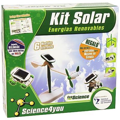 Science4you - Kit solar 6 en 1: Juguetes y juegos