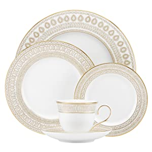 Lenox Marchesa Gilded Pearl 5 Piece Place Setting, White - 855307