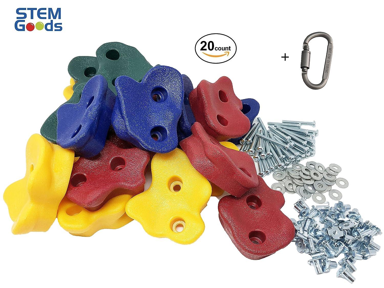 【再入荷!】 20 Premium Large + Textured Hardware Kids Rock Clip Climbing Holds with Quality 2