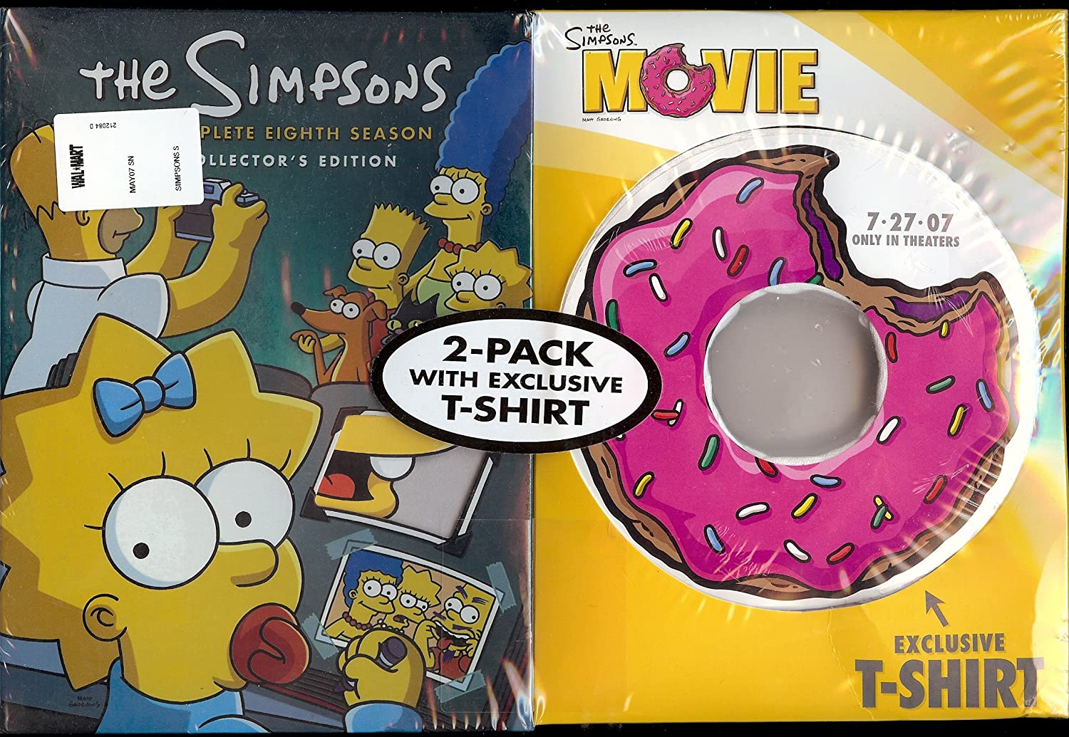 Amazon Com Simpsons Season 8 With Collectible T Shirt Movies Tv
