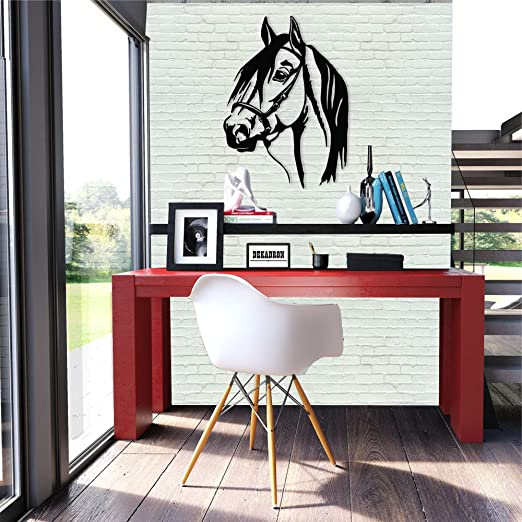 Metal Wall Art Horse Head 3d Wall Silhouette Metal Wall Decor Home Office Decoration Bedroom Living Room Decor Sculpture 13 W X 18 H 33x46cm Everything Else Amazon Com