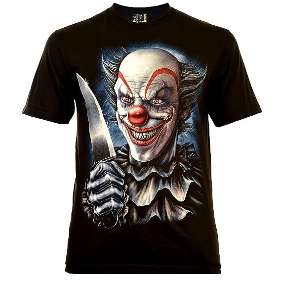 Rock Eagle Herren T-Shirt Schwarz Funtime Joker Clown Glow in the Dark Halloween