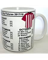 Football Season 2017-2018 League Fixtures Mug