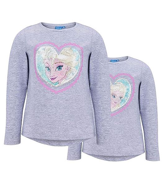 eb32374e3 Disney El Reino del Hielo Camiseta Mangas largas para Chicas  Amazon.es   Ropa y accesorios