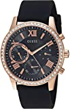 GUESS Women's Rose Gold-Tone and Black Multifunction Watch