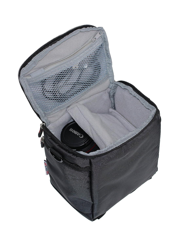 Navitech Black Camcorder Shoulder Bag Case For/PANASONIC/HC-VX980EB-K 4K Ultra HD Camcorder Camera