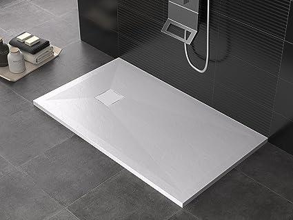 Good olimpo docce roccia hide piatto doccia in marmo resina minerale x spessore cm antigraffio - Rivestire piatto doccia ...