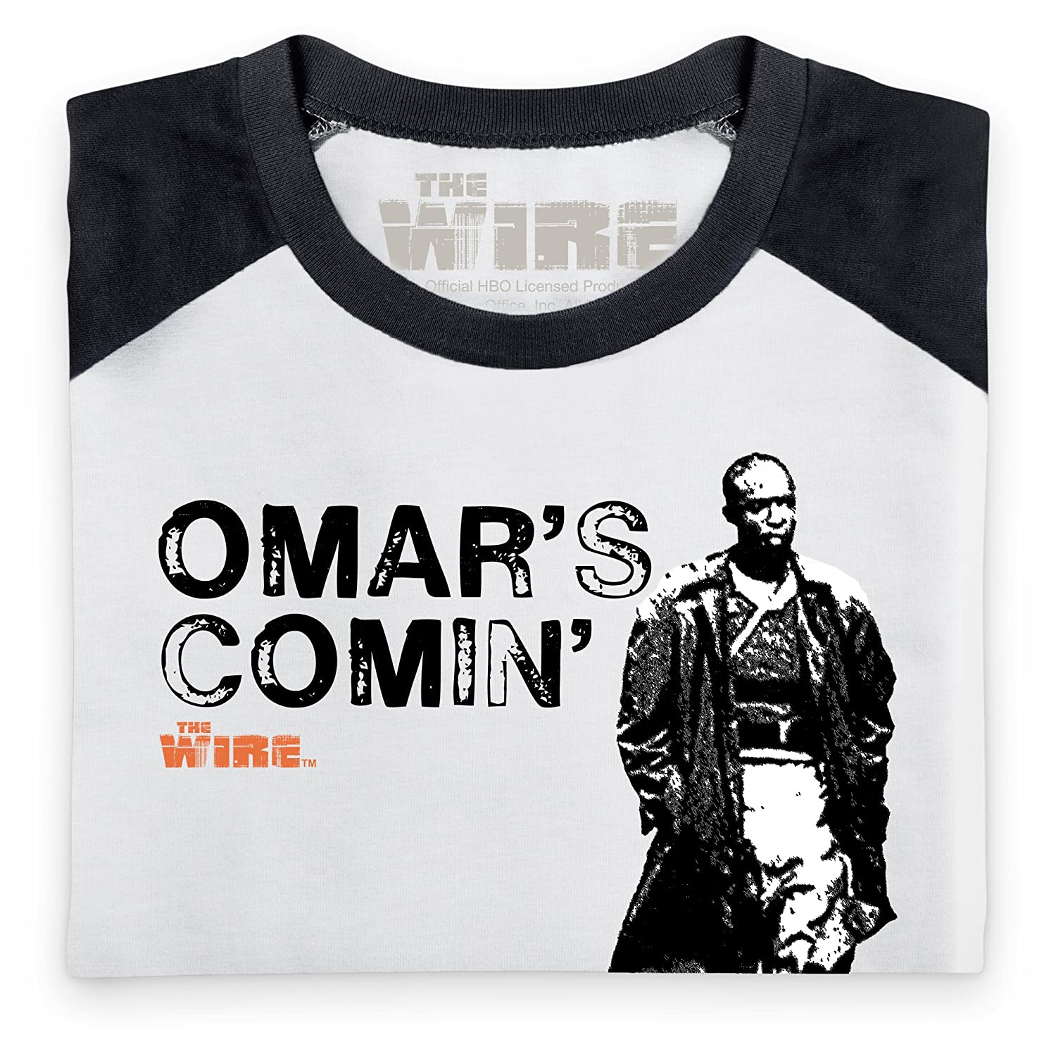 Shotdeadinthehead Official The Wire - Omar\'s Comin\' Baseball T Shirt ...