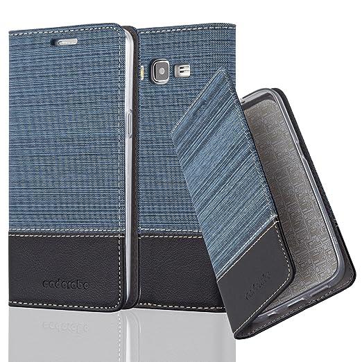 5 opinioni per Cadorabo- Custodia Book Style per Samsung Galaxy GRAND PRIME Design Tessuto-