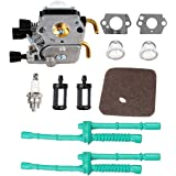 Podoy C1Q-S97 Carburetor for STIHL FS55 Trimmer Weed Eater FS55R Carb with Air Filter Fuel Line Primer Bulb Kit FS38 FS45 FS45C FS45L FS46 FS46C FS55C FS55R FS55RC FS55T KM55 KM55C KM55R KM55R String