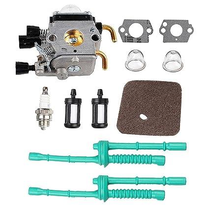 Podoy C1Q S97 Carburetor For STIHL FS55 FS55R Carb With Air Filter Fuel Line Primer Bulb Kit FS38 FS45 FS45C FS45 L FS46 FS46C FS55C FS55R FS55RC