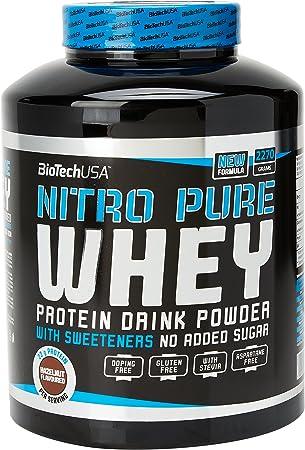 BioTech Nitro Pure Whey Proteínas Sabor Crema de Avellana - 2270 gr