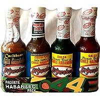 El Yucateco 4 Habanero Hot Sauces Gift Pack, 4 Items
