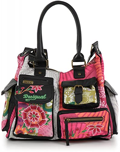 303583ba9 DESIGUAL multi-coloured handbag. Canvas and faux leather. 32x25x11cm.:  Amazon.co.uk: Shoes & Bags