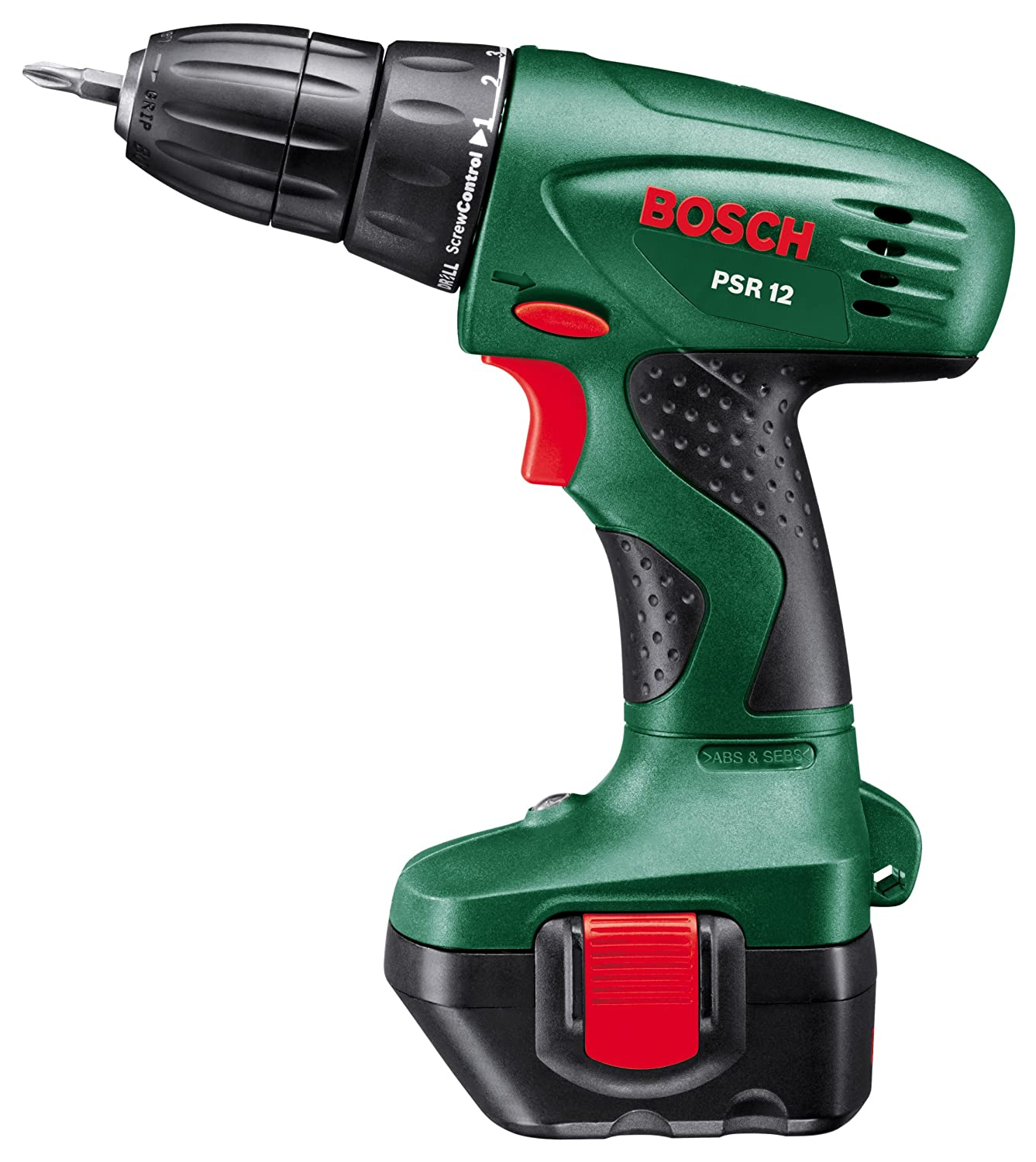 c512a43e3b4e0c Bosch PSR 12 Cordless NiCad Drill Driver with 1 x 12 V Battery, 1.2 Ah   Amazon.co.uk  DIY   Tools