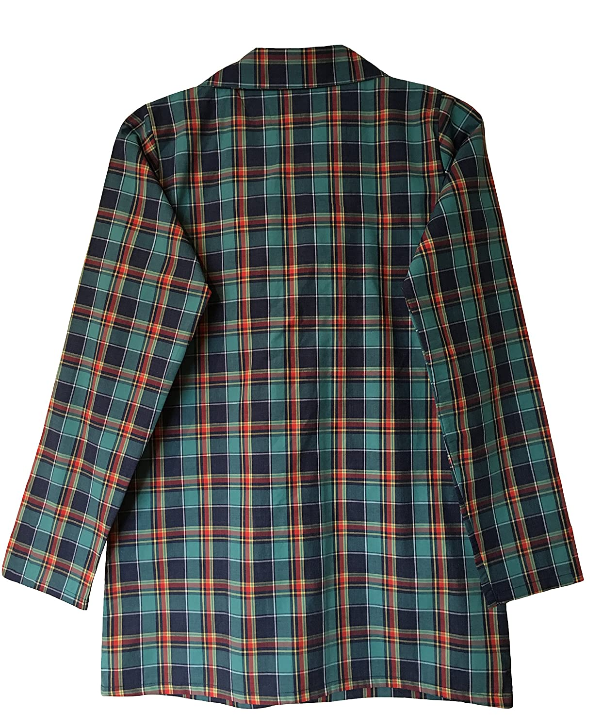 Mens 100% Cotton Button Up Long Sleeve Plaid Check Sleepwear Nightshirt at  Amazon Men s Clothing store  f1cdd14ba