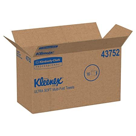 Amazon.com: Kleenex 43752 Ultra Soft Multi-Fold Towels, 2Ply, White, 9 1/4x9 1/2, 150 per Pack (Case of 16 Packs): Industrial & Scientific