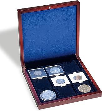 Leuchtturm 308093 Estuche de Madera VOLTERRA, para Monedas con 9 divisiones cuadradas 50x50 mm: Amazon.es: Juguetes y juegos