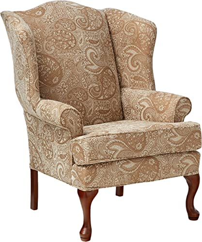 Source One Bernice Cream Wingback Upholstered Chair