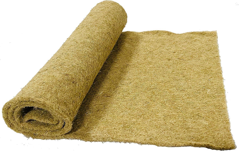 pemmiproducts Alfombra para roedores Hecha de 100% de cáñamo, 100 x 40 cm 10 mm de Espesor, Alfombra para roedores Adecuada como Revestimiento de Piso en Jaula