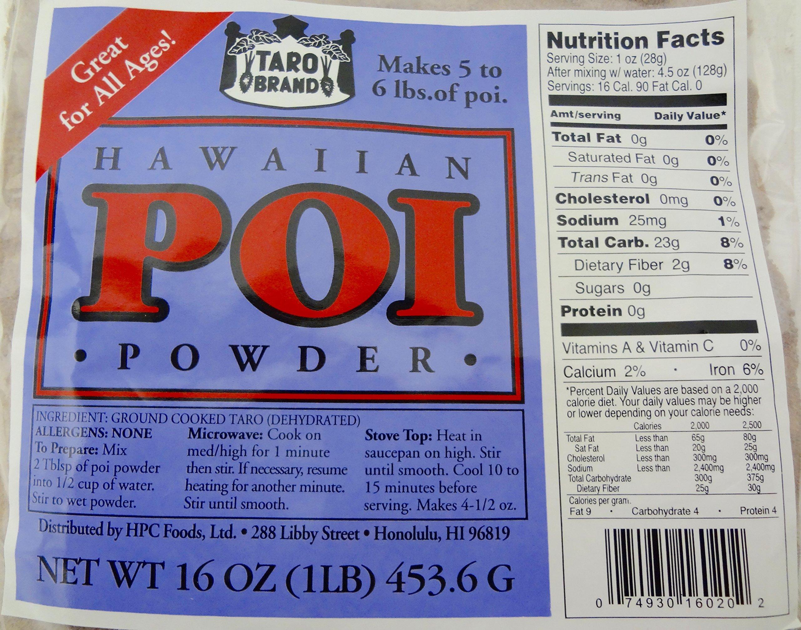 Hawaiian Poi Powder 1lb Bag - Makes 5 - 6 Pounds of Hawaii Poi