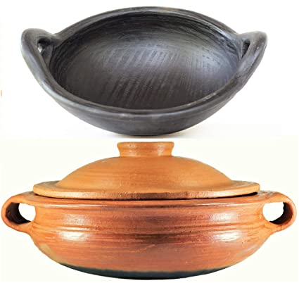 Buy Craftsman India Online Pottery Earthen Kadai Clay Pots Combo For Cooking Pre Seasoned 4 And 1 L Red And Deep Burned Gas Stove And Microwave Unglazed Online At Low Prices In India,How To Clean Fish Tank Filter Sponge
