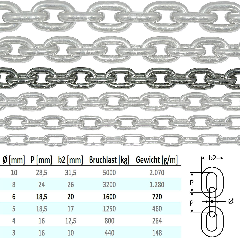 Cadena de acero inoxidable V4A NietFullThings DIN 5685,/DIN 766 inoxidable de eslabones