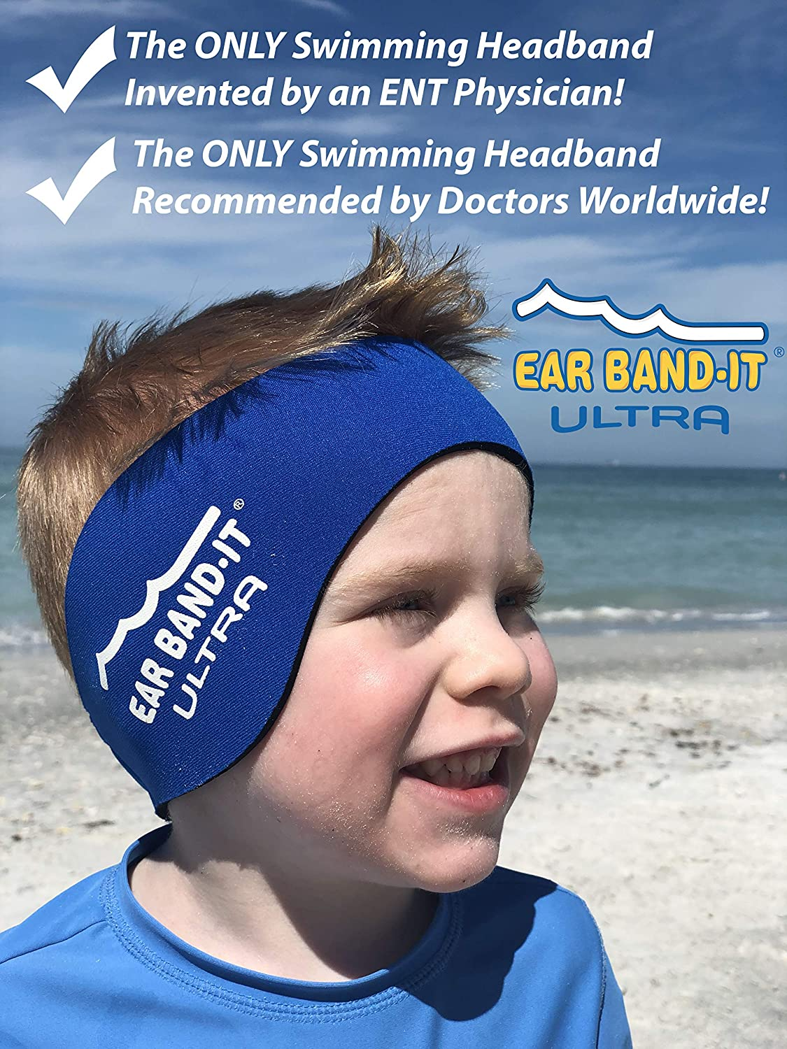 0f58112756c199 Amazon.com : Ear Band-It Ultra Swimming Headband - Best Swimmer's Headband  - Keep Water Out, Hold Earplugs in - Doctor Recommended - Secure Ear Plugs  ...