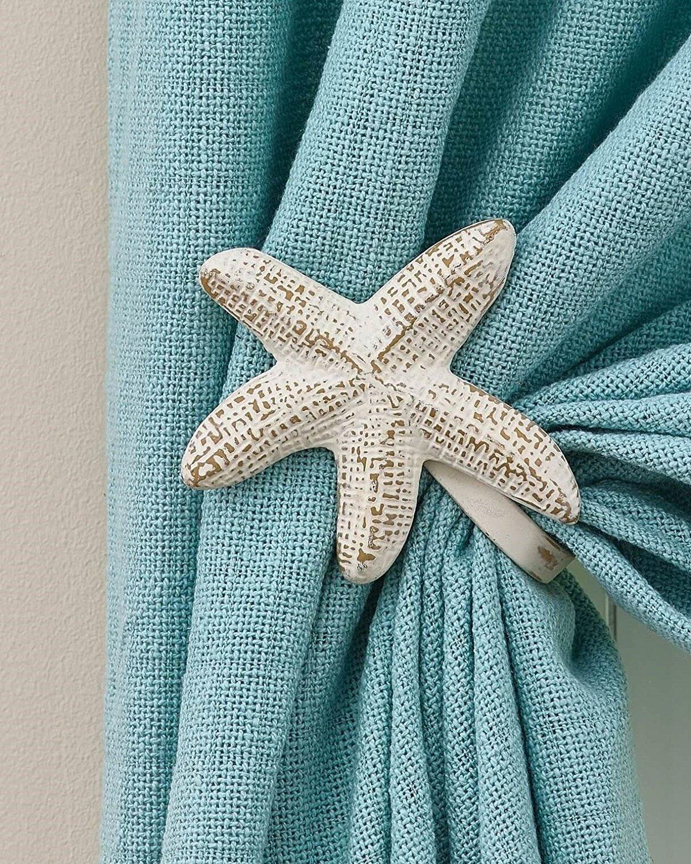 Park Designs 24-152 Pair of Starfish Curtain Tie Backs Starfish 5x5
