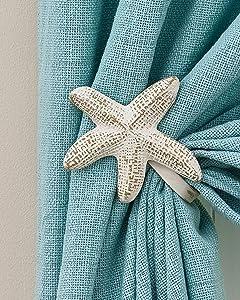 "Pair of Starfish Curtain Tie Backs (Starfish 5""x5"")"