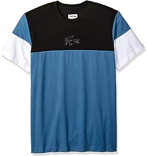 6d9a37a9 Lacoste Men's Sport Short Sleeve Ultra Dry Technical Color Blocked T-Shirt