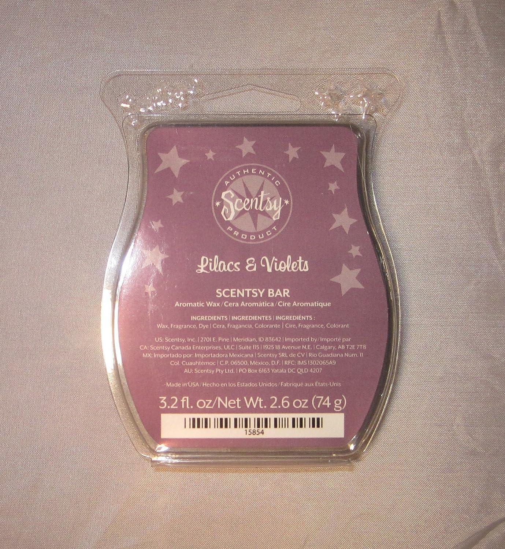 Scentsy , Lilacs and Violets、ないキャンドルCandleタルトWarmerワックスバー、3.2 FL OZ、8 Squares B00JBMVLI8