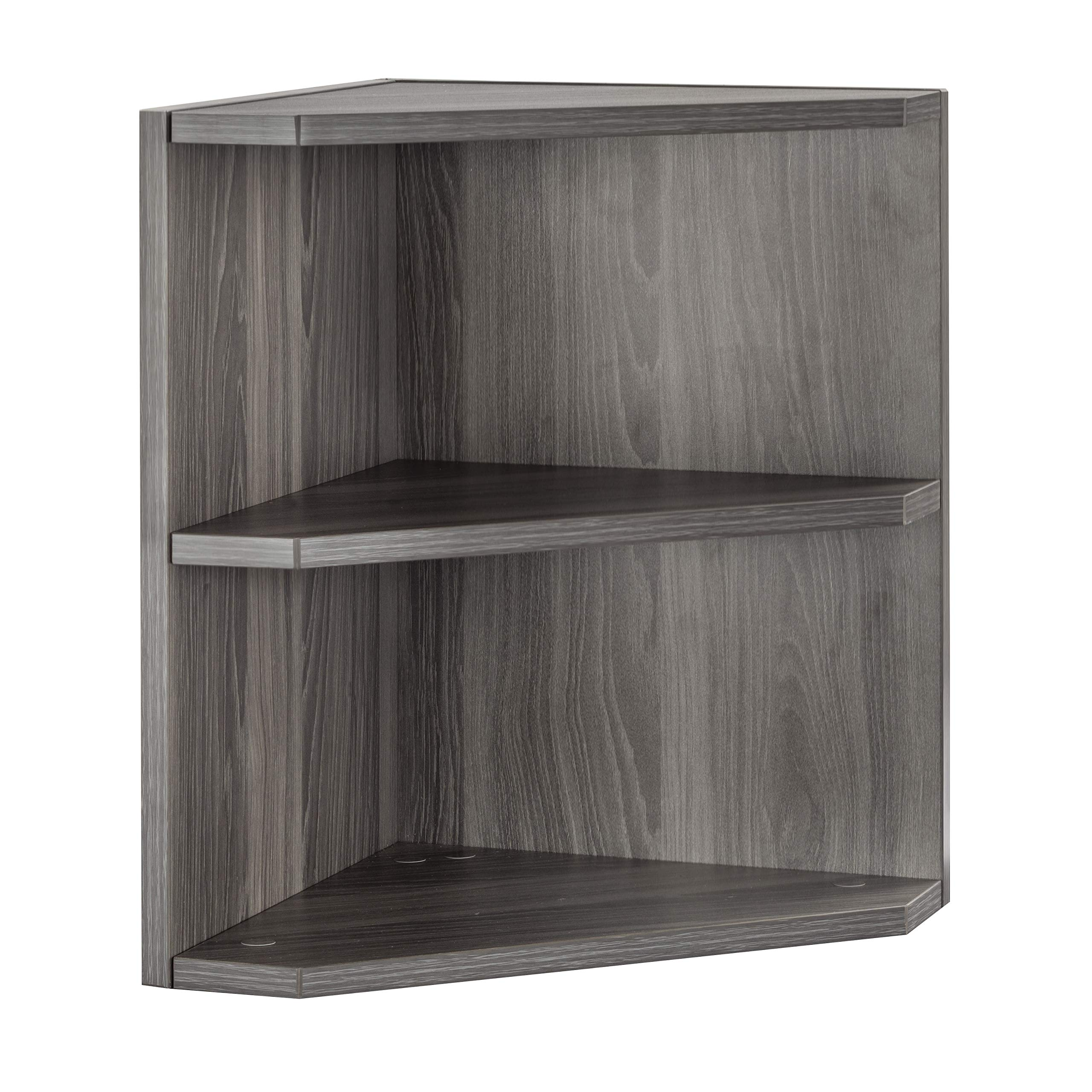 Safco MNPOLGS Medina Hutch Cabinet, Gray Steel Laminate