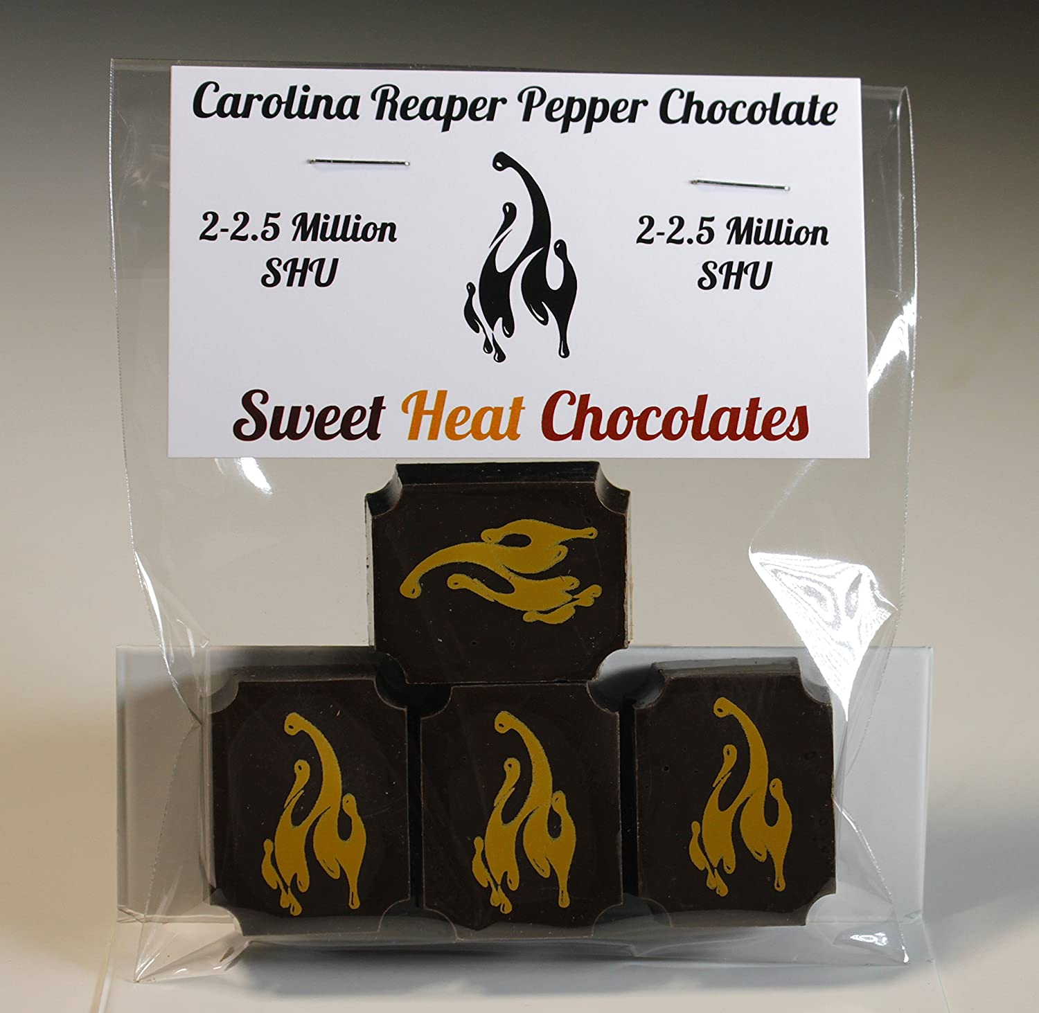 Carolina Reaper Pepper Dark Chocolate 4pc
