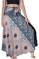 Bangkokpants Women's Long Hippie Bohemian Skirt Flowers One Size Fits US 0-12