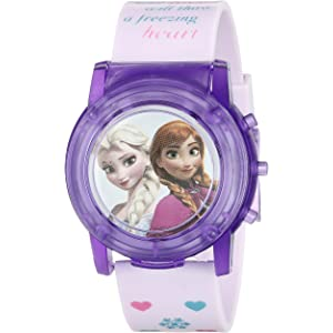 Disney Kids FZN6000SR Digital Display Analog Quartz Pink Watch