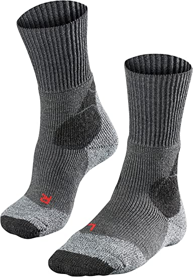 Falke TK 1 Wool Calcetines de Senderismo para Mujer tama/ño 39-40 Color Gris