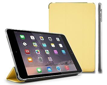 MyGadget Funda de Imán para Apple iPad Mini 1/2/3 con Stand Función y Auto Sueño - Case Slim Fit de Soporte Plegable y Dura Estela Trasera - Dorado
