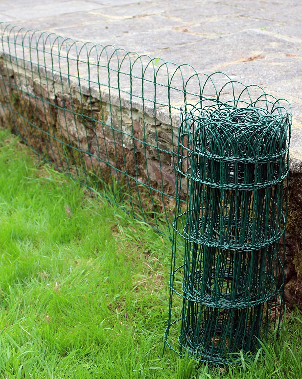 Garden Border Lawn Edging 10m X 400mm Or 650mm PVC Coated Green Wire Fencing  (1, 650mm Height 513): Amazon.co.uk: Garden U0026 Outdoors