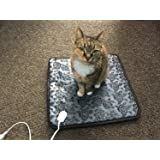 QITAO Electric Heated Bed Warming Pad Outdoor Pet Heating Bed Warmer For Dog House Heater Cat Puppy Animal Kitten Indoor Waterproof Adjustable Pet Mat, 45 * 45 CM