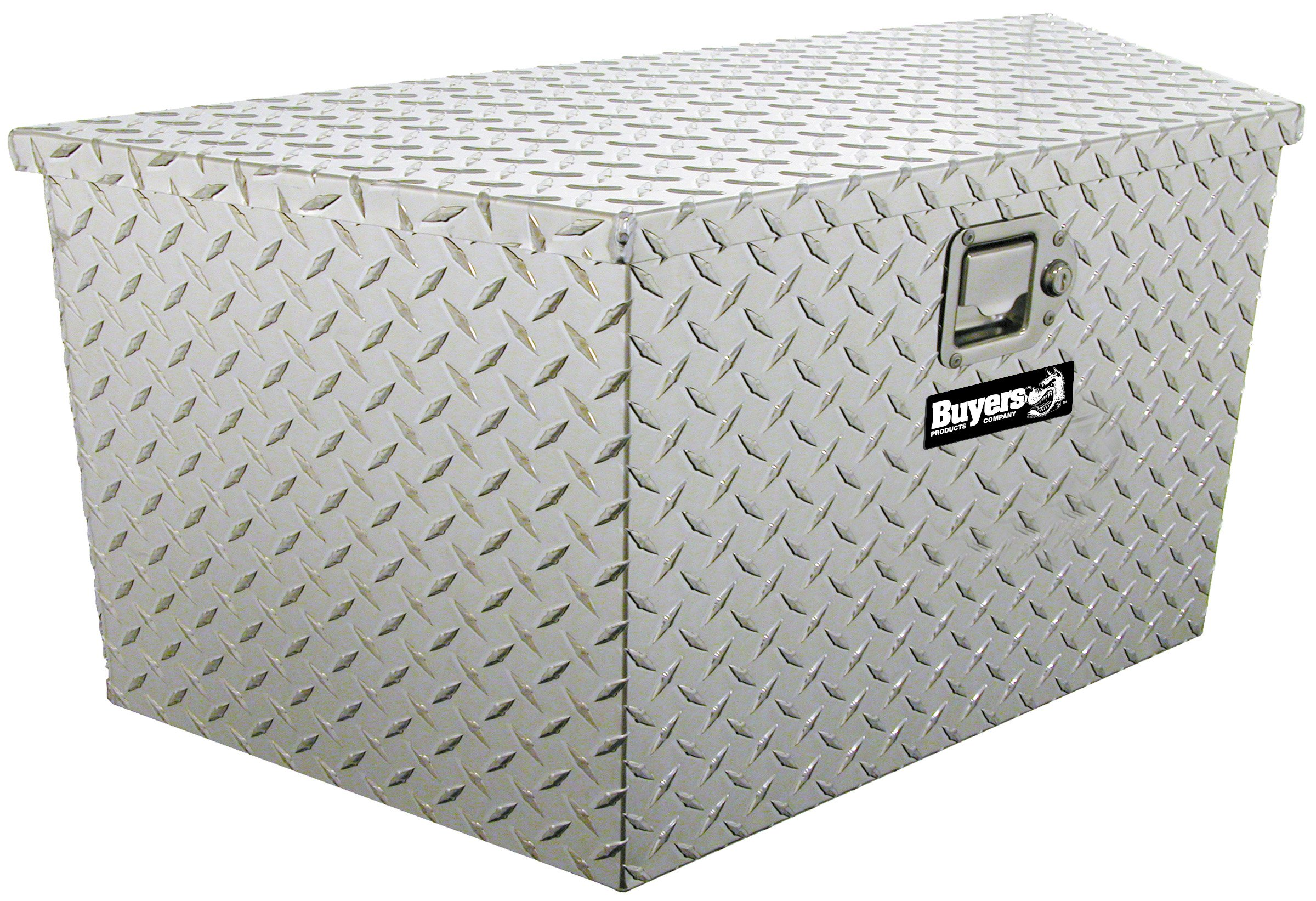 Buyers Products Diamond Tread Aluminum Trailer Tongue Truck Box (18.5x15x49/37 Inch) by Buyers Products